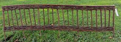 Master Garden Products Woven Willow Edging with Vertical Cross Sections Pattern, 16 by 47-Inch