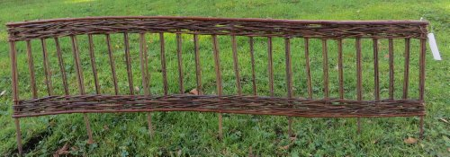 Willow Border - Master Garden Products Woven Willow Edging with Vertical Cross Sections Pattern, 16 by 47-Inch