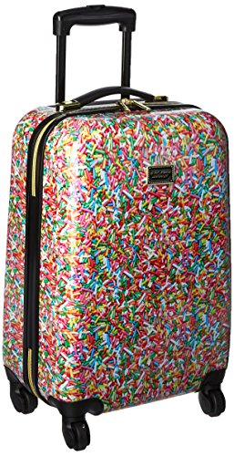 "Betsey Johnson Hardside Spinner Carry-on Suitcase 20"", Multi Colored"