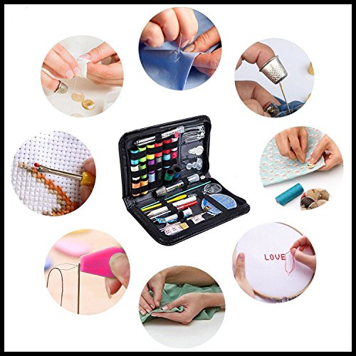 LLLJJJ Sewing Kit, DIY Premium Sewing Supplies, Mini Sewing, Travel,Emergency