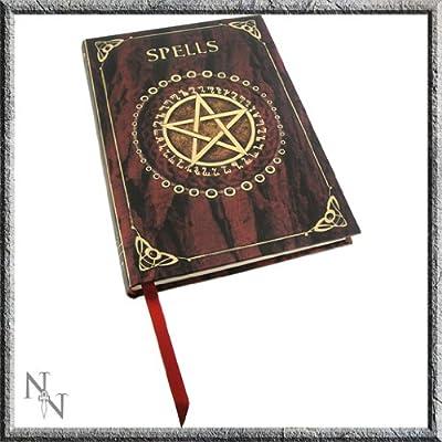 Artist Luna Lakota Witchcraft Wiccan Spells Pentagram Embossed Journal: Toys & Games