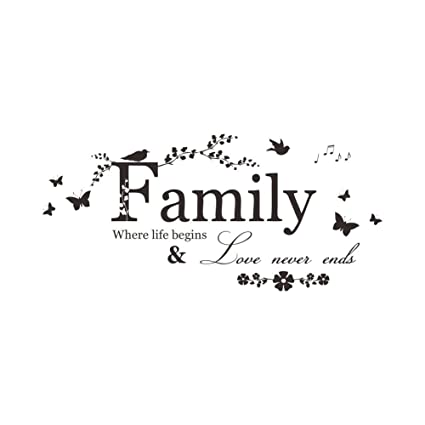 Quote About Family   Wall Quote Family Where Life Begins Love Never Ends Tuopuda Wall