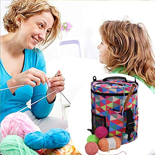 Gift for world DIY Needlework Storage Organizer Bag Women Tote Bag Big Capacity Yarn Case For Crochet Hook Knitting Needle Yarn Holder Bag