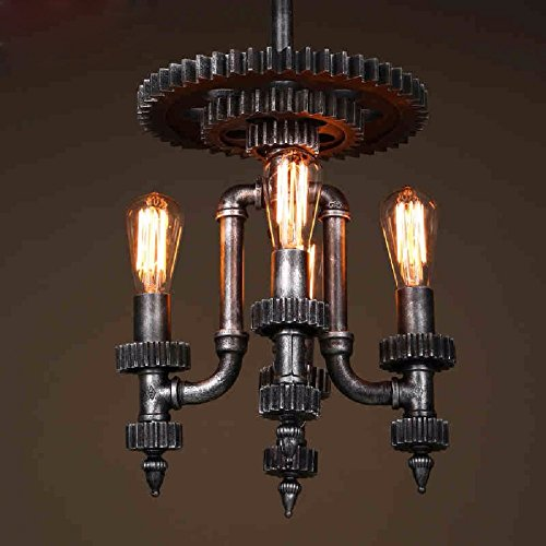 HQLCX Chandelier Restaurant Decorative Lamps Coffee Shop Machinery Gear Chandelier,Bronze by HQLCX-Chandeliers