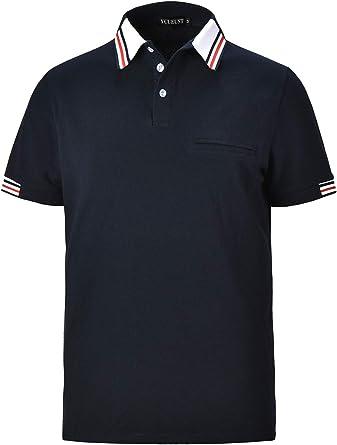 YCUEUST Polos Manga Corta Hombre Golf Polo Shirt Verano T ...
