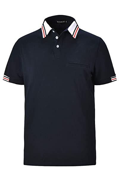 YCUEUST Polos Manga Corta Hombre Golf Polo Shirt Verano T-Shirt ...