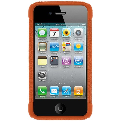 Amzer Exklusive Silikonhülle für iPhone 4/4S, orange