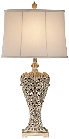 Elle carved antique gold classic table lamp amazon elle carved antique gold classic table lamp aloadofball Gallery