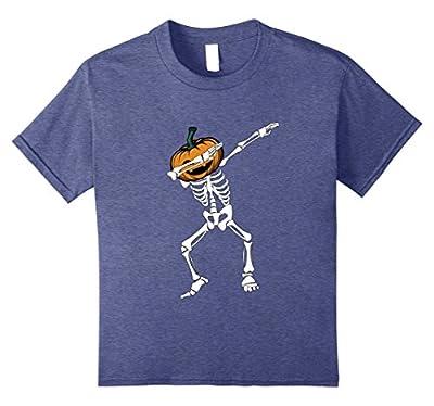 Funny Dabbing Skeleton Pumpkin Halloween Dab T-Shirt