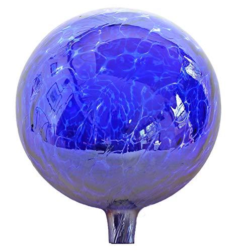 Glass Gazing Ball Cobalt Blue 12 Inch by Iron Art Glass ()