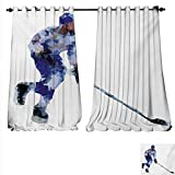 Best Div X Players - familytaste Patterned Drape Glass Door Hockey Player in Review