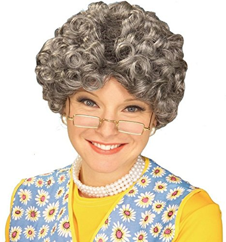 [Granny Gray Old Lady Wig, Yo Mamma Nanna Madea Granny Grandmother] (Old Grandma Costumes)