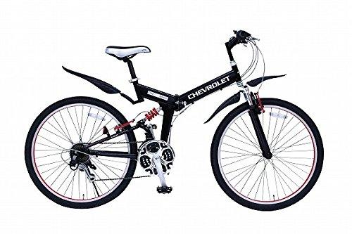 ミムゴ CHEVROLET WサスFD-MTB2618SE ブラック MG-CV2618E 自転車 サイクリング スポーツ B0728KPKHB
