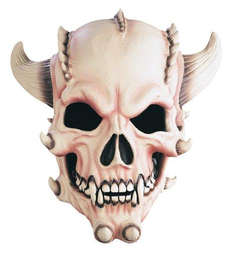 Scary Skull Foam (Rubie's Costume Demon Skull Deluxe Overhead Mask, Flesh, One)