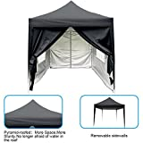 Quictent Silvox Waterproof 6.6×6.6′ EZ Pop Up Canopy Gazebo Party Tent Silver Portable Pyramid-roofed Style For Sale