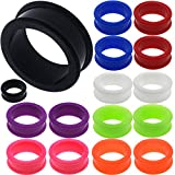 1 inch 26mm gauges Ear Plugs Flesh Tunnels Silicone Steel Screw Wood Double Flared Stretcher Taper 1 26mm