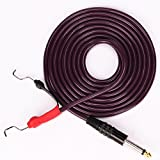 Tattoo Clip Cord New Silicone Material 2.4m 8' Feet Silica Gel Tattoo Power Line for Coil Tattoo Machine Gun Tube Rotary Tatoo Cord Red (Purple)