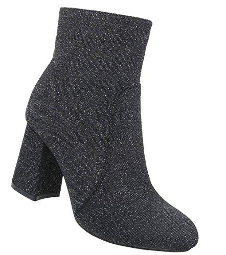 Schuhcity24 Damen Schuhe Stiefeletten High Heels Schwarz