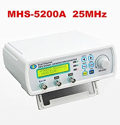 AIKONG MHS-5200A Digital DDS Dual-channel Signal Source Generator Arbitrary Waveform Frequency Meter 25MHz for laboratory teaching 20%