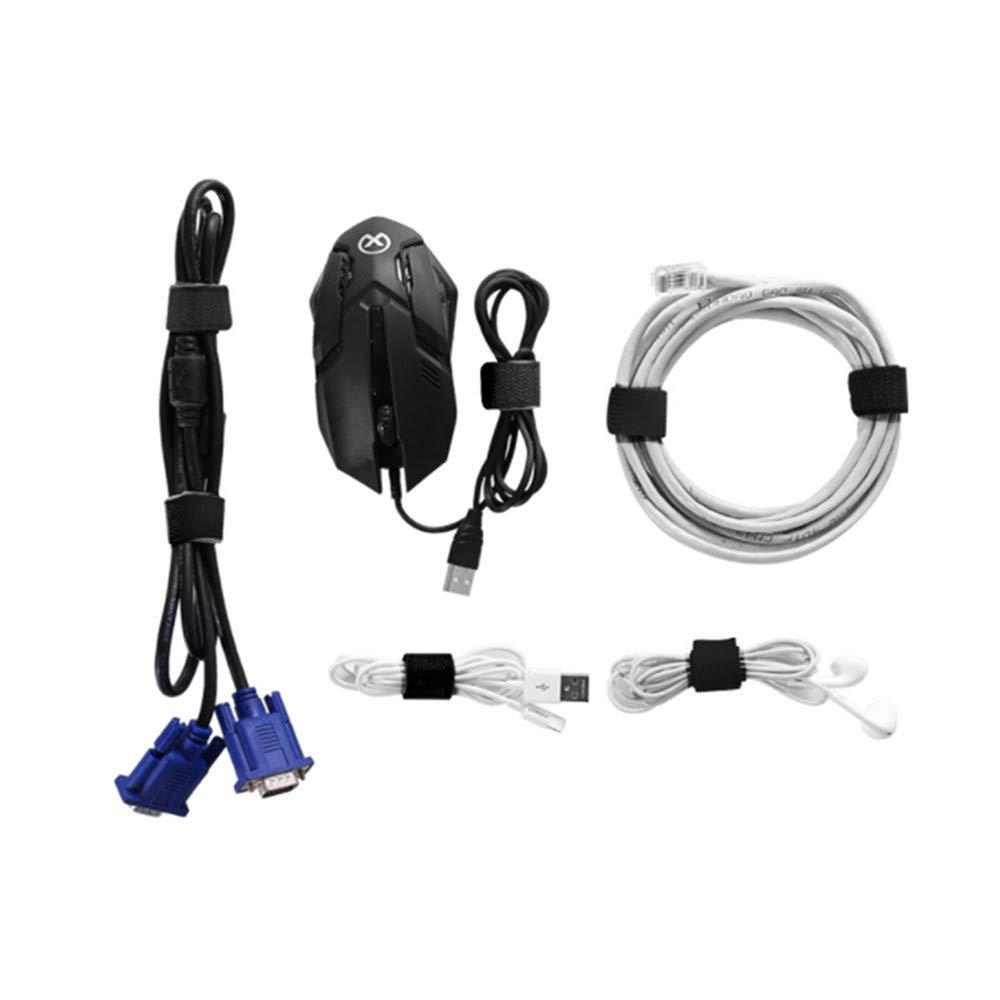 wiederverwendbar Kabelmanagement Kabelklammern mit Schnallen und Haken 60 St/ück verstellbar