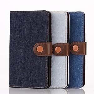 GX Teléfono Móvil Samsung - Fundas con Soporte - Color Sólido - para Samsung Galaxy Note Edge ( Azul/Azul oscuro/Azul claro , Cuero PU ) , Light Blue