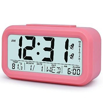 Amazon.com: Reloj despertador digital de mesa, reloj ...