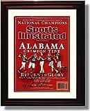 Framed Alabama Crimson Tide - Nick Saban 2009 Commemorative Autograph Print