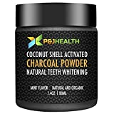 P & J Health Teeth Whitening Charcoal Powder Natural Mint Flavor (40g)