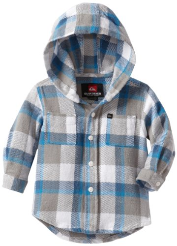 UPC 887681277088, Quiksilver Baby Boys' Sorry Bro Hooded Shirt, White, 18 Months