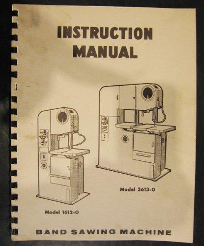 DoAll Mdl. 1612-0 & 3613-0 Vertical Bandsaw Instruction Manual