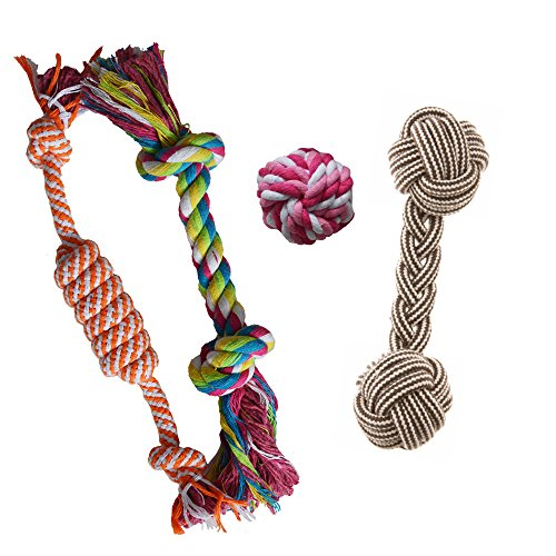 Puppy Chew Teething Rope Toys Set Mini Dental Pack For Small Dogs