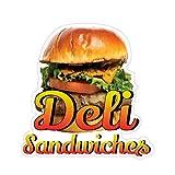 Deli Sandwiches Concession Restaurant Food Truck Die-Cut Vinyl Sticker 18 inches