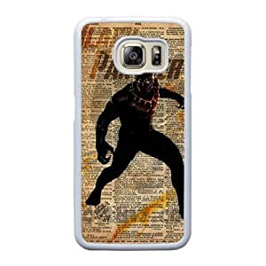 Custom made Case,Black Panther Cell Phone Case for Samsung Galaxy S6 Edge, White Case With Touchscreen Stylus Pen Free S-7300690