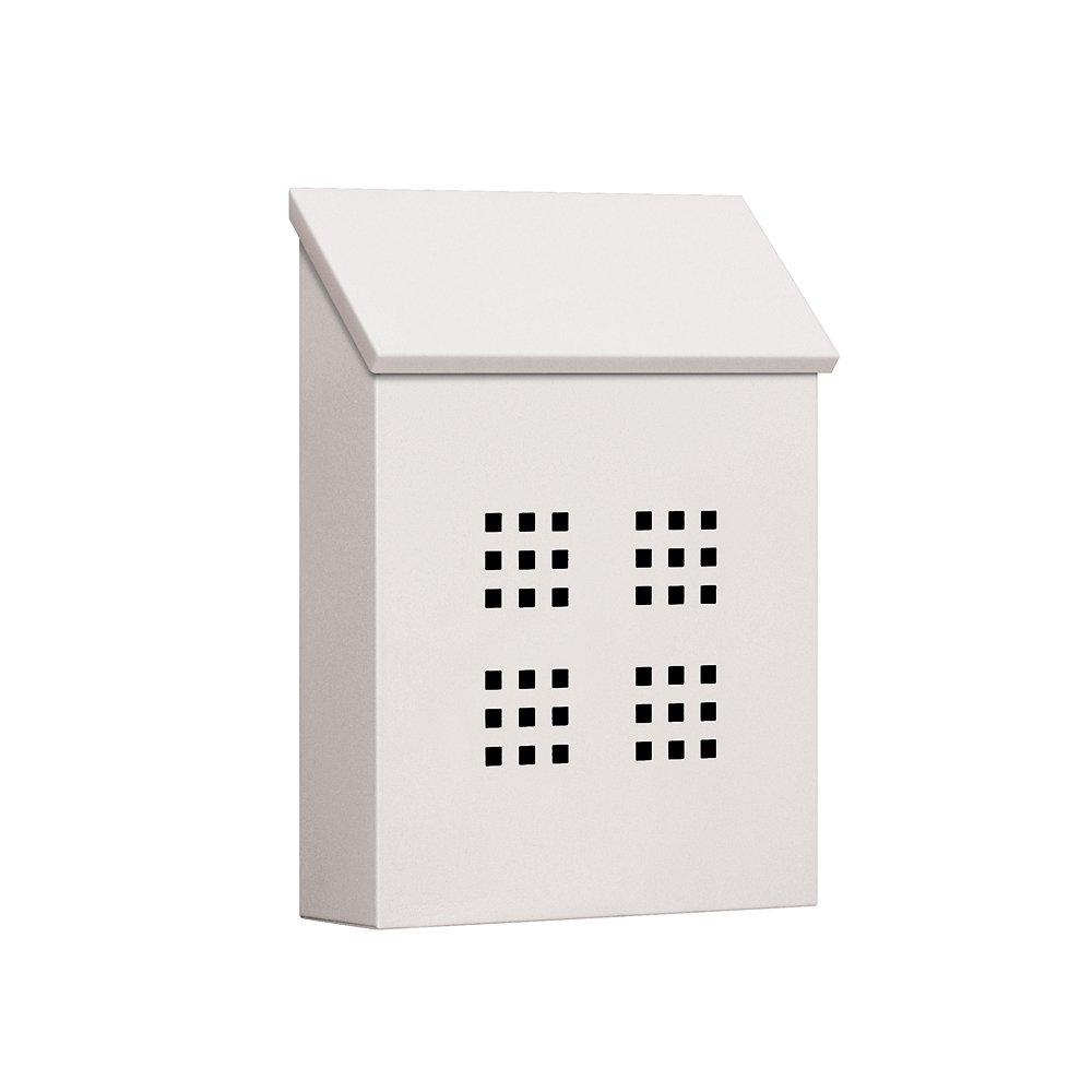 Salsbury Industries 4625WHT Traditional Mailbox Decorative Vertical Style White