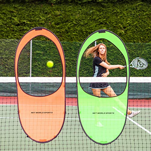 Vermont Tennis Net Targets | Train Shot Accuracy & Depth | 2 x High-Visibility Tennis Net Targets | Lightweight & Super Durable | Features Easy Stick Straps | Comes with Carry Bag