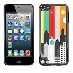 Beautifulcase Graphic case cover Hard Skin case cover Pouch - Artistic Minimalist Architecture Colors - Apple iPod Touch 5 ijGujm9l2h8