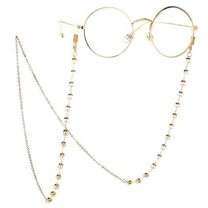 AMPQJ Cadenas de Gafas para Mujeres Cristal Transparente con ...