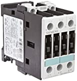 Siemens 3RT10 23-1AK60 Motor Contactor, 3 Poles, Screw Terminals, S0 Frame Size, 120V at 60Hz and 110V at 50Hz AC Coil Voltage Voltage