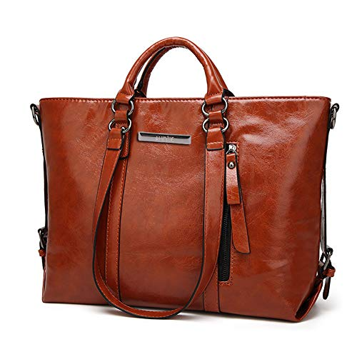 Flying Borsa Impermeabile Capacità Casual Grande PU Donna a Moda di Viaggio Pelle in Tracolla Brown r5qzr8xP