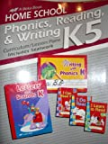 Home School Phonics, Reading, & Writing Curriculum K5, Includes Seatwork