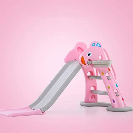 GLY Tobogan Infantil Tobogan Niños Jardin Columpios Infantiles Exterior Tobogan para Piscinas 2 En 1 con Aro De Baloncesto, Escalera Antideslizante, Base De Inyección De Agua Juguetes (Color : Pink): Amazon.es: Hogar