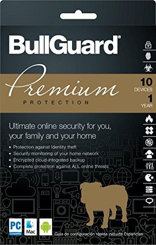 BullGuard Premium Protection 2018 Download Key Card, 1 Year (10-Users)