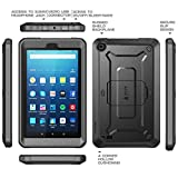 All New Fire 7 Case, SUPCASE Unicorn Beetle PRO Series [Heavy Duty] Full-body Rugged Protective Case Cover with Built-in Screen Protector for Amazon Fire 7 (7th Generation) 2017 Release (Black)