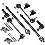 #1: SCITOO 10pcs Suspension Kit 2 Lower 2 Upper Ball Joints 2 Outer 2 Inner Tie Rod Ends 2 Front Sway Bar End Link fit 1998-2000 Isuzu Amigo 2002-2004 Isuzu Axiom K90703