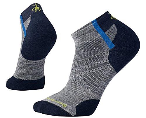 SmartWool PhD Run Light Elite Pattern Low Cut Socks (Light Gray) - Socks Low Cut Elite
