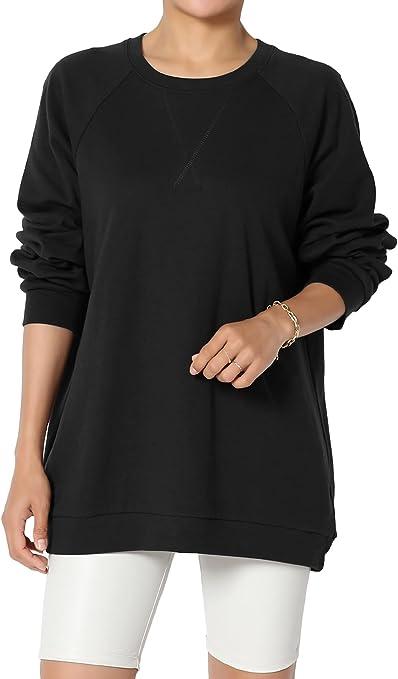 long tops oversized knit top plus size top asymmetrical t-shirt Y1088 long sleeve t-shirt Oversize cotton hoodie cotton tunic dress