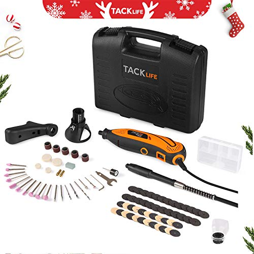 Rotary Tool Kit Variable Speed with Flex shaft, 80 Accessories, 3 Attachments and Carrying Case, Multi-functional for Around-the-House and Crafting Projects - RTD35ACL from TACKLIFE