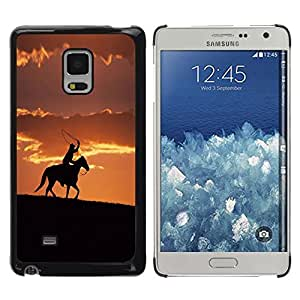 Be Good Phone Accessory // Dura Cáscara cubierta Protectora Caso Carcasa Funda de Protección para Samsung Galaxy Mega 5.8 9150 9152 // Sunset Horse Ride