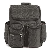 Diaper Backpack by Wallaroo - with Stroller Straps, Wet Diaper Bag and Changing Pad – for Women and Men - 28 liters (Large) - Gray