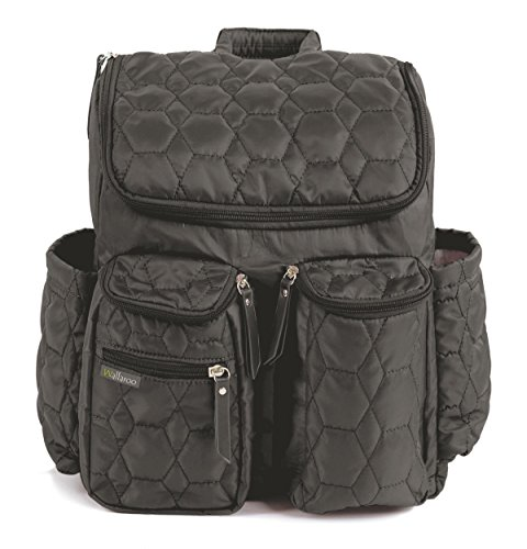 Wallaroo Diaper Bag Backpack with Stroller Straps, Wet Bag and Diaper Changing...